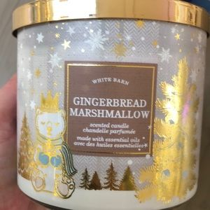 NWT Bath and Body Works Gingerbread Marshmallow 3 Wick Candle